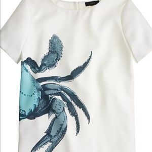 J Crew Crabby Top -10 White /blue NWT , poly